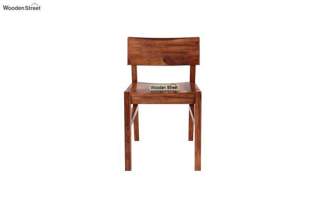 Canova 6 Seater Family Dining Table Set (Honey Finish)-10