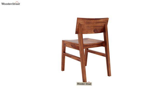 Canova 6 Seater Family Dining Table Set (Honey Finish)-12