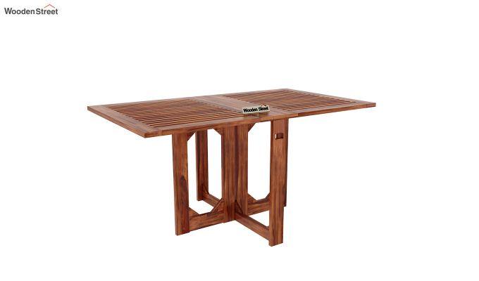 Canova 6 Seater Family Dining Table Set (Honey Finish)-4