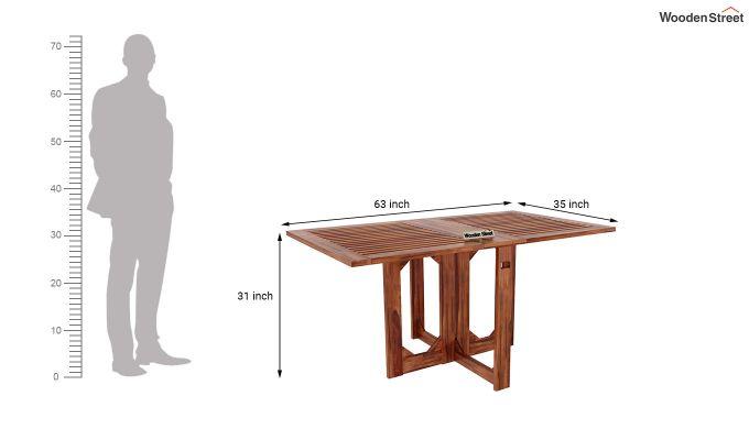 Canova 6 Seater Family Dining Table Set (Honey Finish)-13