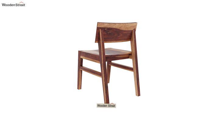 Canova 6 Seater Family Dining Table Set (Teak Finish)-12