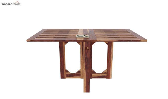 Canova 6 Seater Family Dining Table Set (Teak Finish)-5