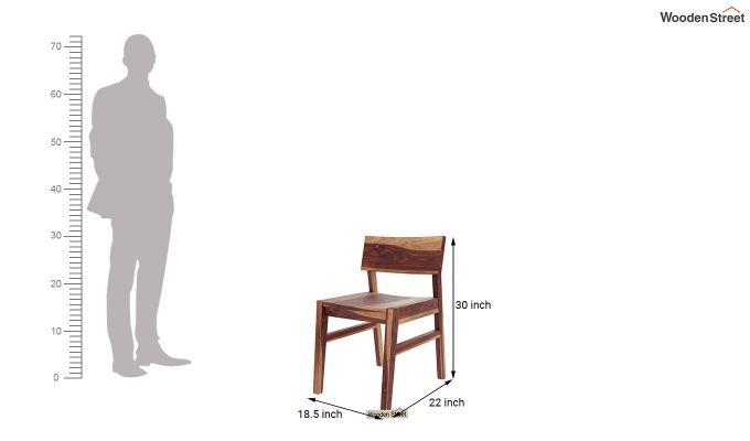 Canova 6 Seater Family Dining Table Set (Teak Finish)-14