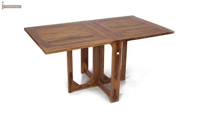 Canova 6 Seater Family Dining Table Set (Teak Finish)-15