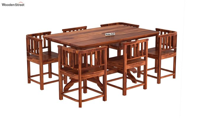 Cohoon 6 Seater Dining Set (Honey Finish)-4