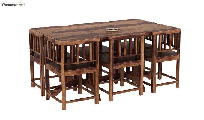 Cohoon 6 Seater Dining Set (Teak Finish)-2