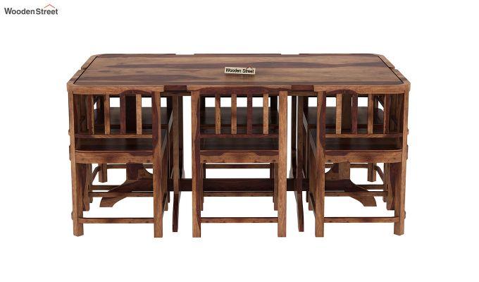 Cohoon 6 Seater Dining Set (Teak Finish)-3
