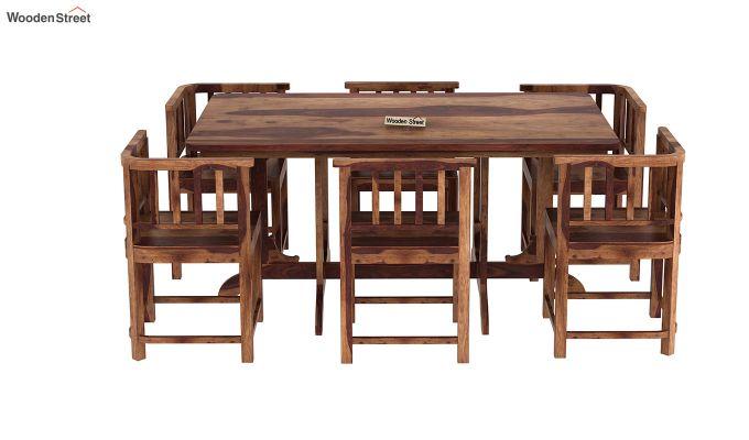 Cohoon 6 Seater Dining Set (Teak Finish)-5