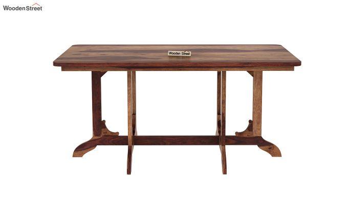 Cohoon 6 Seater Dining Set (Teak Finish)-7