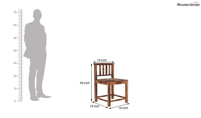 Cohoon 6 Seater Dining Set (Teak Finish)-14