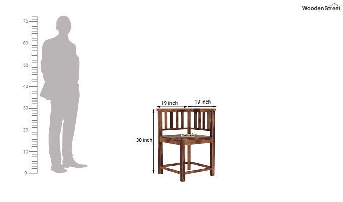 Cohoon 6 Seater Dining Set (Teak Finish)-13