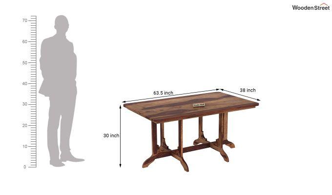 Cohoon 6 Seater Dining Set (Teak Finish)-12