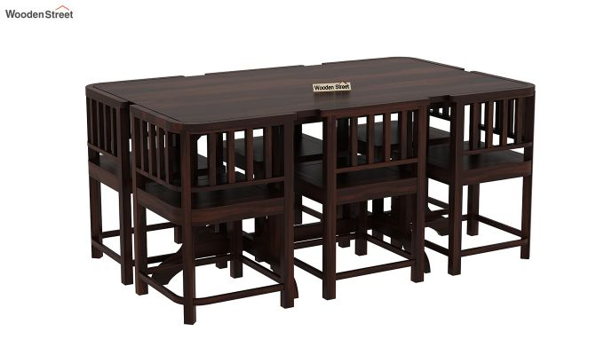 Cohoon 6 Seater Dining Set (Walnut Finish)-2