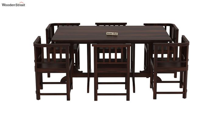 Cohoon 6 Seater Dining Set (Walnut Finish)-5