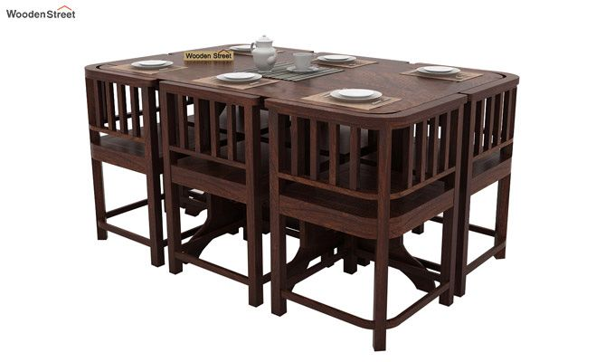 Cohoon 6 Seater Dining Set (Walnut Finish)-3
