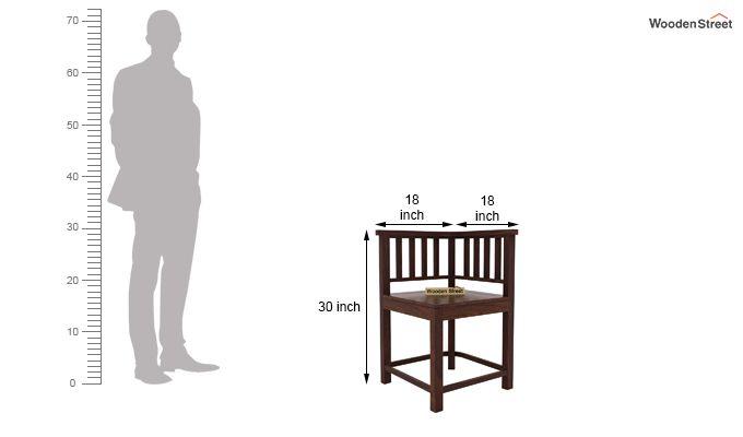 Cohoon 6 Seater Dining Set (Walnut Finish)-11