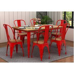 Cora Metal 6 Seater Dining Set