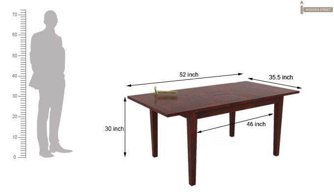 Franco Extendable 6 Seater Dining Set (Mahogany Finish)-11