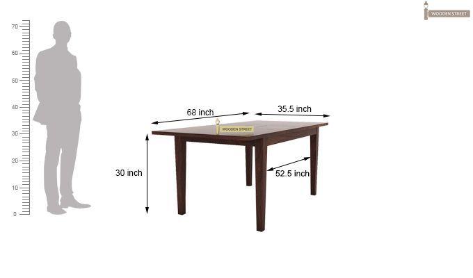 Franco Extendable 6 Seater Dining Set (Walnut Finish)-8