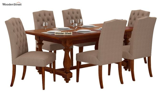 Elance 6 Seater Dinning Set (Honey Finish)-2
