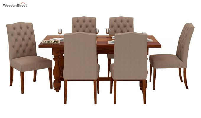 Elance 6 Seater Dinning Set (Honey Finish)-3