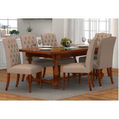 Elance 6 Seater Dinning Set (Honey Finish)