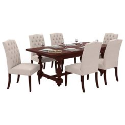 Elance 6 Seater Dinning Set (Mahogany Finish)