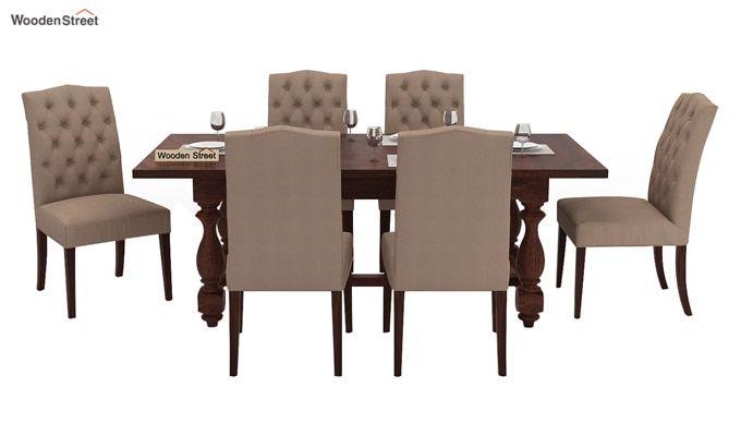 Elance 6 Seater Dinning Set (Walnut Finish)-2