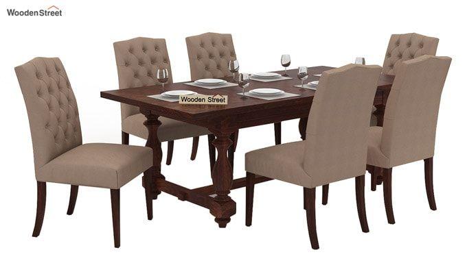 Elance 6 Seater Dinning Set (Walnut Finish)-1