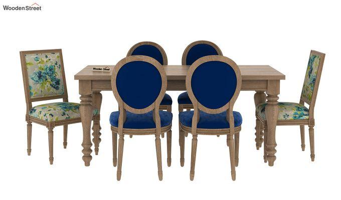 Fedora 6 Seater Printed Dining Set (Natural Finish)-4