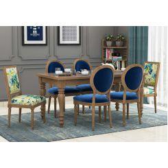 Fedora 6 Seater Printed Dining Set