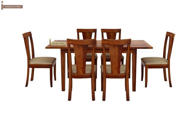 Franco Extendable 6 Seater Dining Set (Honey Finish)-3