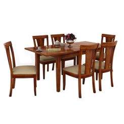 Franco Extendable 6 Seater Dining Set (Honey Finish)