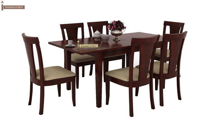 Franco Extendable 6 Seater Dining Set (Mahogany Finish)-2
