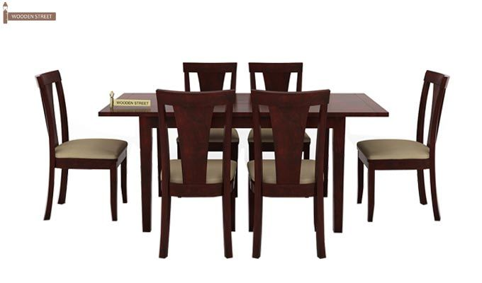 Franco Extendable 6 Seater Dining Set (Mahogany Finish)-3