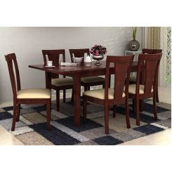 Franco Extendable 6 Seater Dining Set (Mahogany Finish)