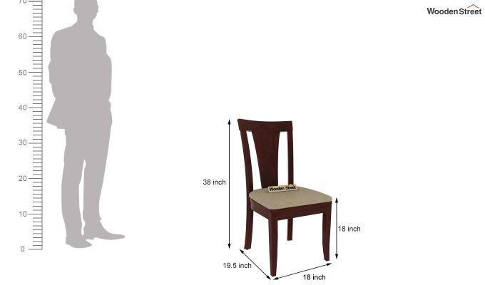 Franco Extendable 6 Seater Dining Set (Mahogany Finish)-12
