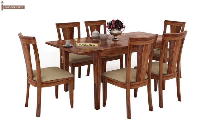 Franco Extendable 6 Seater Dining Set (Teak Finish)-2