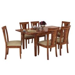 Franco Extendable 6 Seater Dining Set (Teak Finish)