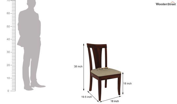 Franco Extendable 6 Seater Dining Set (Walnut Finish)-9