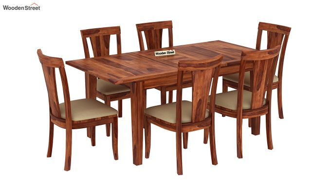 Franco Extendable 6 Seater Dining Set (Honey Finish)-2