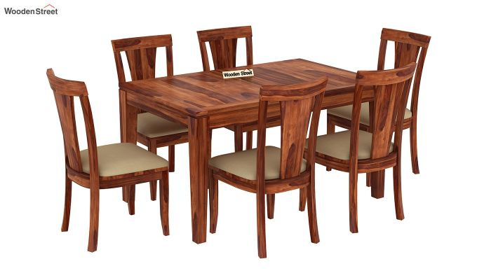 Franco Extendable 6 Seater Dining Set (Honey Finish)-4