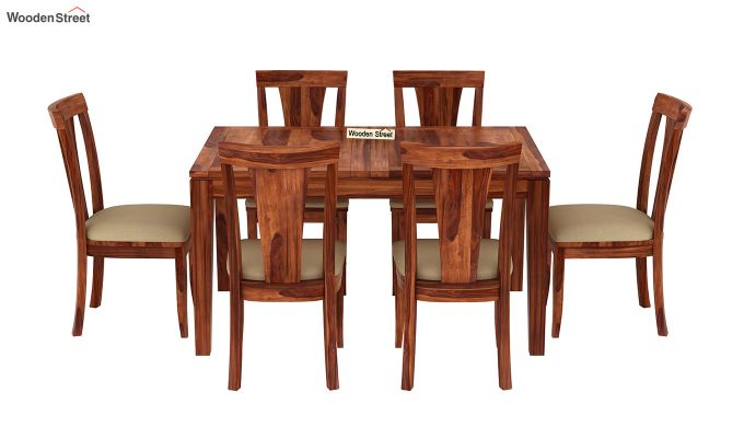 Franco Extendable 6 Seater Dining Set (Honey Finish)-5