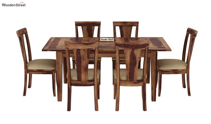 Franco Extendable 6 Seater Dining Set (Teak Finish)-3