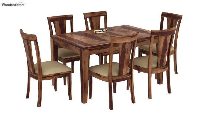 Franco Extendable 6 Seater Dining Set (Teak Finish)-4