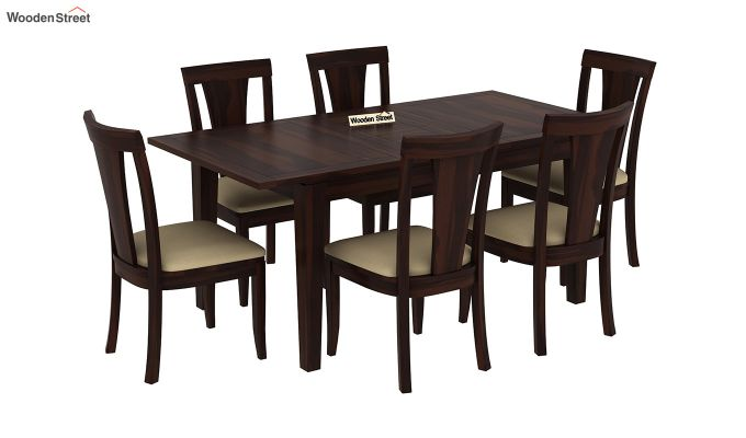 Franco Extendable 6 Seater Dining Set (Walnut Finish)-2