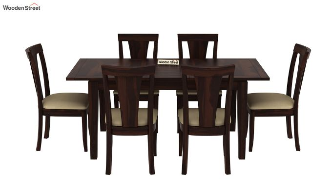 Franco Extendable 6 Seater Dining Set (Walnut Finish)-3