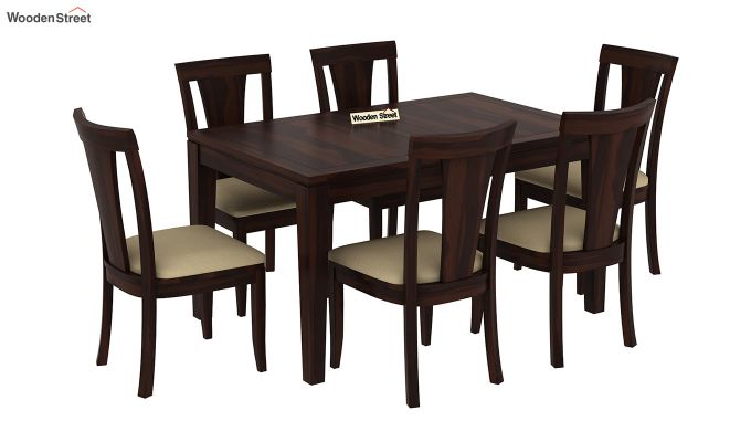 Franco Extendable 6 Seater Dining Set (Walnut Finish)-4