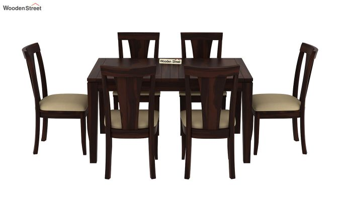 Franco Extendable 6 Seater Dining Set (Walnut Finish)-5