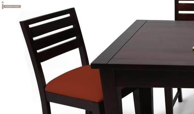 Advin 6 Seater Extendable Dining Set (Orange, Mahogany Finish)-11